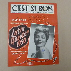 song sheet c 39 est si bon latin quarter 1950 sylvie st. Black Bedroom Furniture Sets. Home Design Ideas