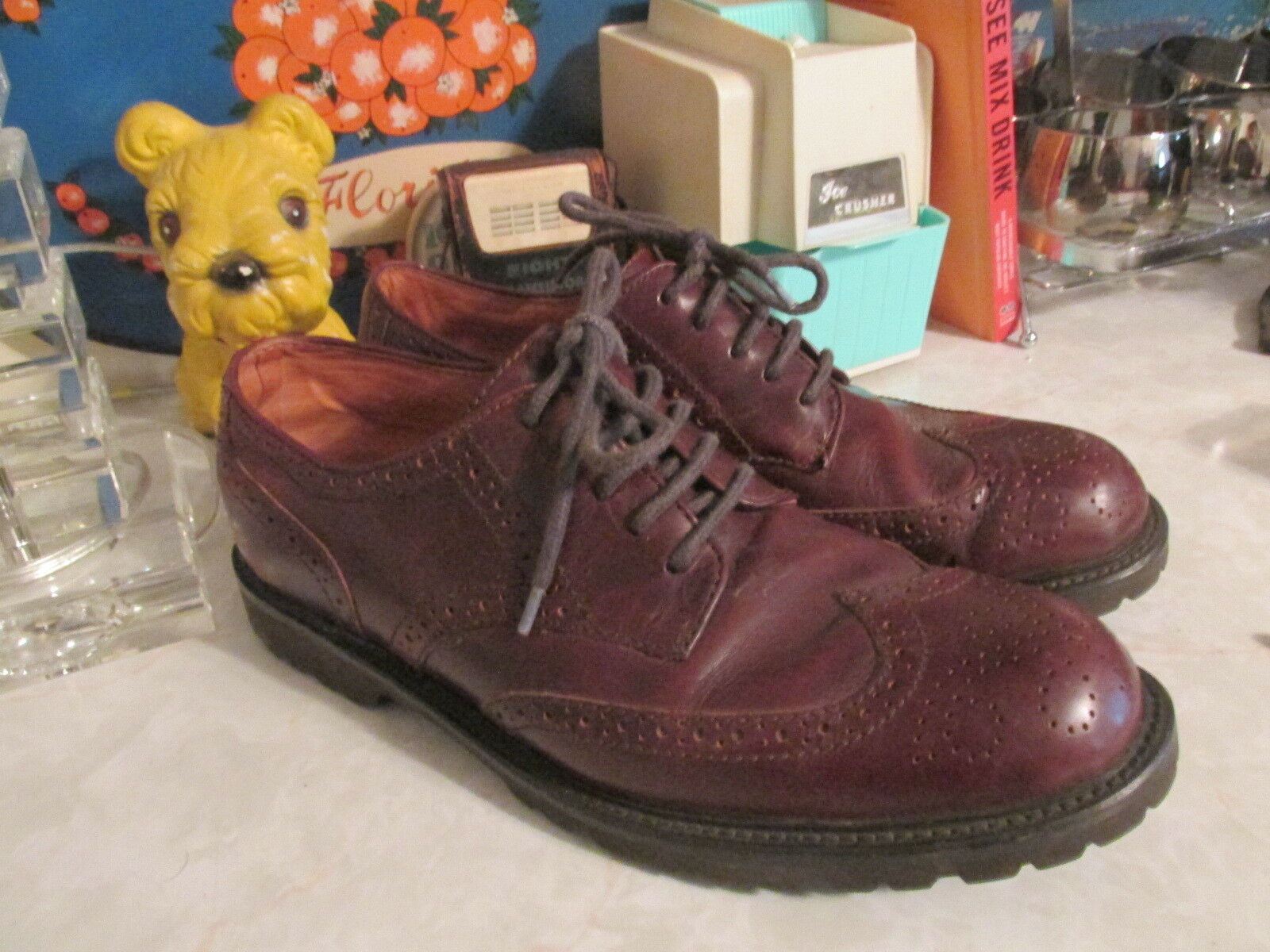 Orivis men's brown wingtips shoes size 11 M dress or casual