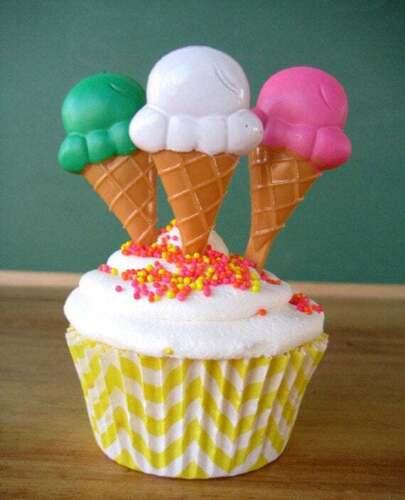 Ice Cream Cone Cupcake Party Picks Birthday Party Beach Summer 25