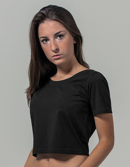T-Shirt Bauchfrei Kurz geschnitten Ladies Cropped Tee Sportshirt Freizeitshirt