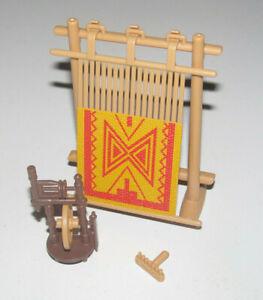 Playmobil-Accessoire-Decor-Lot-Atelier-Tissage-Medievale-NEW