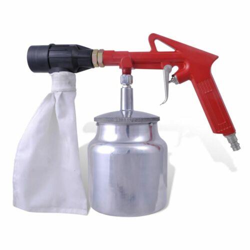 vidaXL Druckluft Sandstrahlpistole mit 3 Flaschen 4 Düsen Sandstrahlgerät
