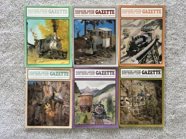 NARROW GAUGE AND SHORT LINE GAZETTE, 1985 6 ISSUES