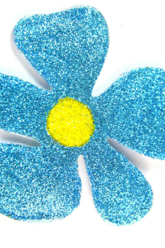 A19 LADIES ELEGANT SUMMER PIECE FLORAL BRIGHT VIVID BLUE GLITTERY NECKLACE