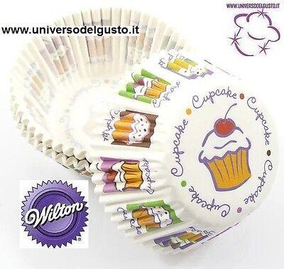 """Confezione 100 Pirottini Mini Muffin """"heaven"""" Wilton Cupcake Cielo Decora Torte Per Farti Sentire A Tuo Agio Ed Energico"""