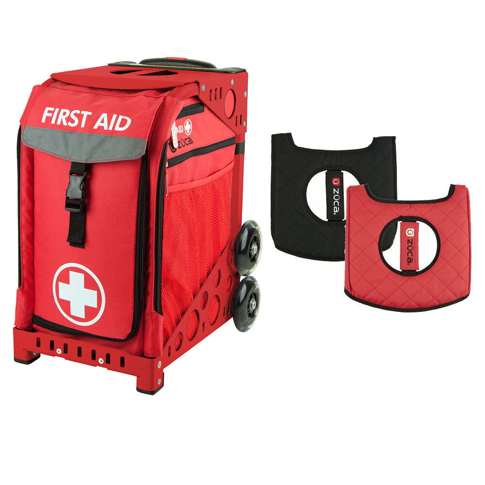 Zuca First Aid Sport Insert Bag and Red Frame, with Gift Seat Cushion