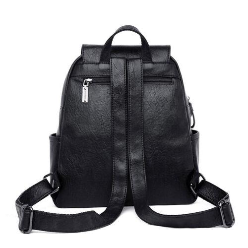 DAMEN Stadt-City-RUCKSACK Schulter-Tasche Backpack Reise Urlaub bag Echtes Leder