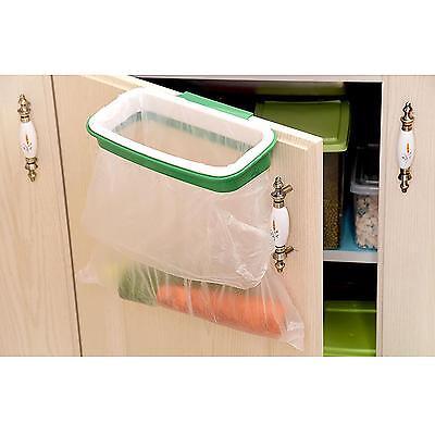 Kitchen Cupboard Door Stand Trash Garbage Rubbish Storage Bag Bin Rack Holder