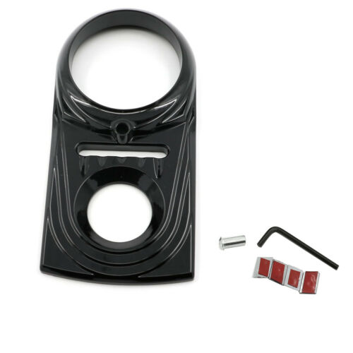 Black Dash Panel Insert Cover For Harely Dyna Wide Glide FXDWG Softails Fat Boy