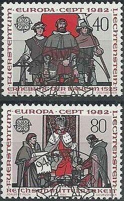 Briefmarken Europa Liechtenstein 732/3 O Set 6690 Geeignet FüR MäNner Europa Frauen Und Kinder