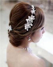Bridal Hair Accessories wedding hairband Clip-in Pearls flower headpiece tiara