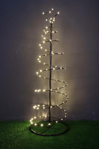 100-er LED Spiral-Lichterbaum 120 CM Sapin de Noël Arbre //