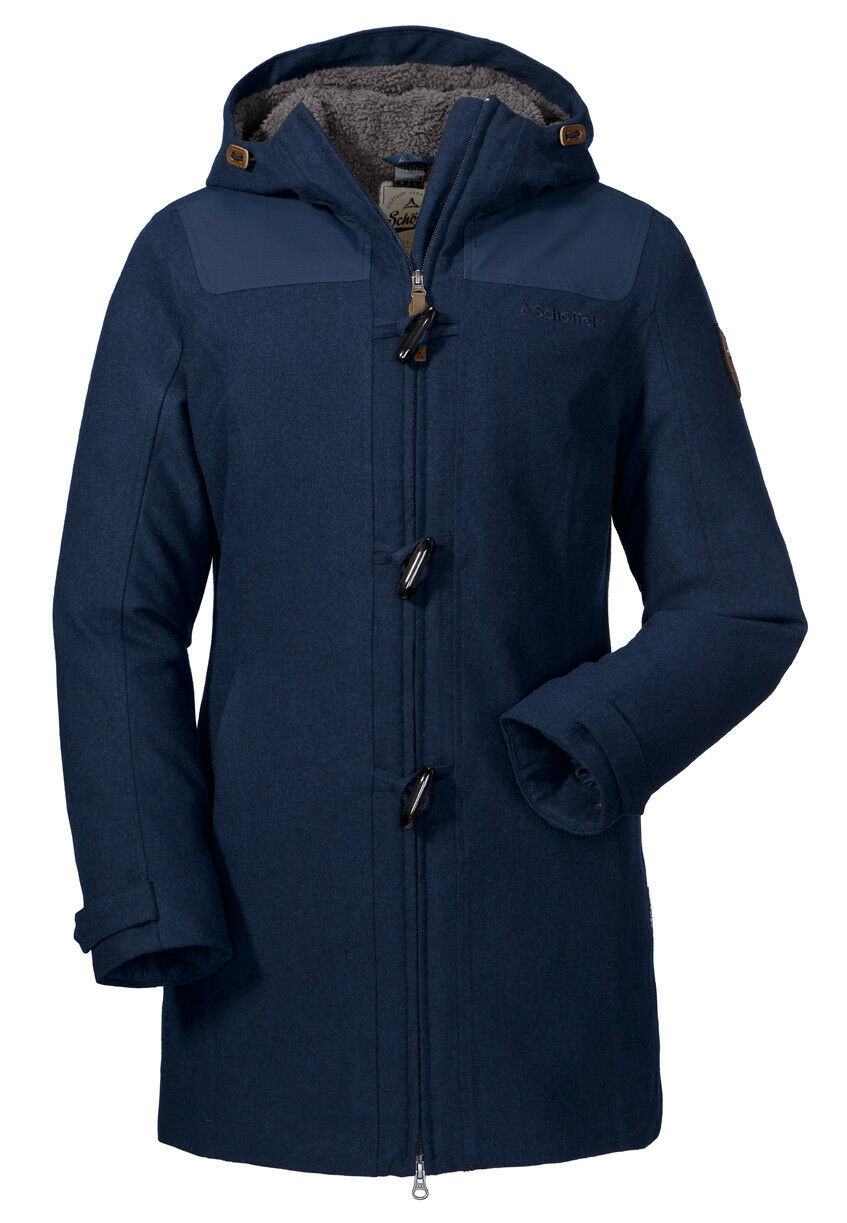 Schöffel Damen Mantel Mantel Mantel Duffle Coat Bregenz 12127-23124 navy blazer / Wintermantel 3f2fe3