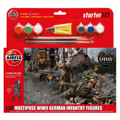 Starter Set Nouveau échelle 1:32 AIRFIX Multipose WWII Infanterie allemande