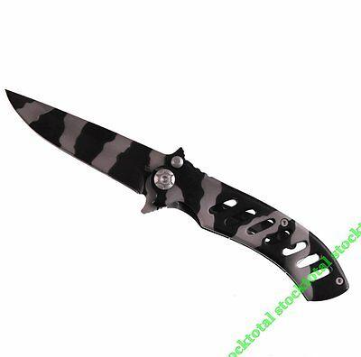 Militaria Alert Navaja Camuflaje Camo Knife Hoja 8 Cms Clip 10890 Stocktotal