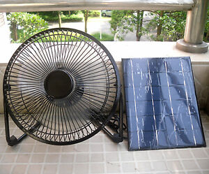 8 39 39 usb iron fan powered by 5w solar panel for outdoor home cooling ventilation ebay. Black Bedroom Furniture Sets. Home Design Ideas