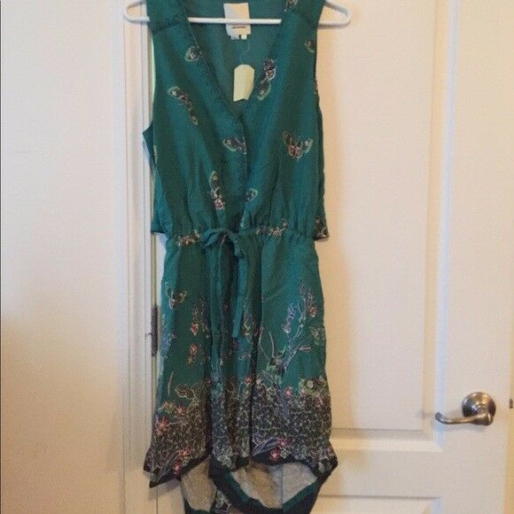 Anthropologie elevenses green butterfly romper NWT - Sz L