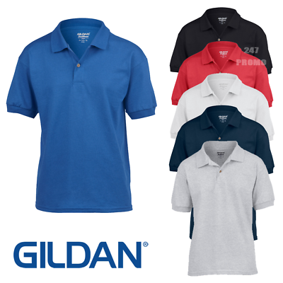 3 Confezione Gildan DryBlend per Bambini School Uniform Polo Ragazzi Ragazze Camicia Top