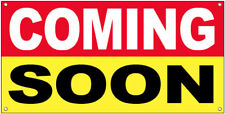 20x48 Inch Coming Soon Vinyl Banner Grand Opening Store Sign Ryb