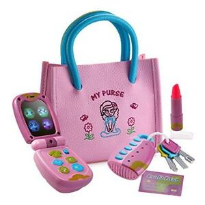 Playkidz My First Purse – Pretend Play Princess Toy Set for Girls with Handbag