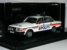 Minichamps 1986 Volvo 240 GL Salonn Norwegian Police LTD ED 1/43