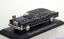 1:43 Greenlight Lincoln Continental Ronald Reagon 1972 black