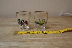 SHOT GLASSES DAIMLER amp ROLLS ROYCE GOLD EDGING - <span itemprop='availableAtOrFrom'>Poole, United Kingdom</span> - SHOT GLASSES DAIMLER amp ROLLS ROYCE GOLD EDGING - Poole, United Kingdom