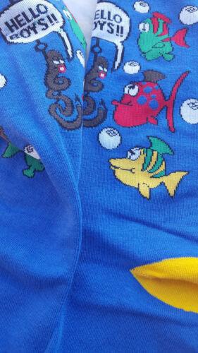 Fishing Hello Boys FineFit Mens Fun Novelty Socks Dress SOX Size 10-13 Casual