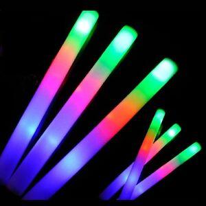 Light up foam sticks led wands rave batons dj flashing for Led wands wholesale