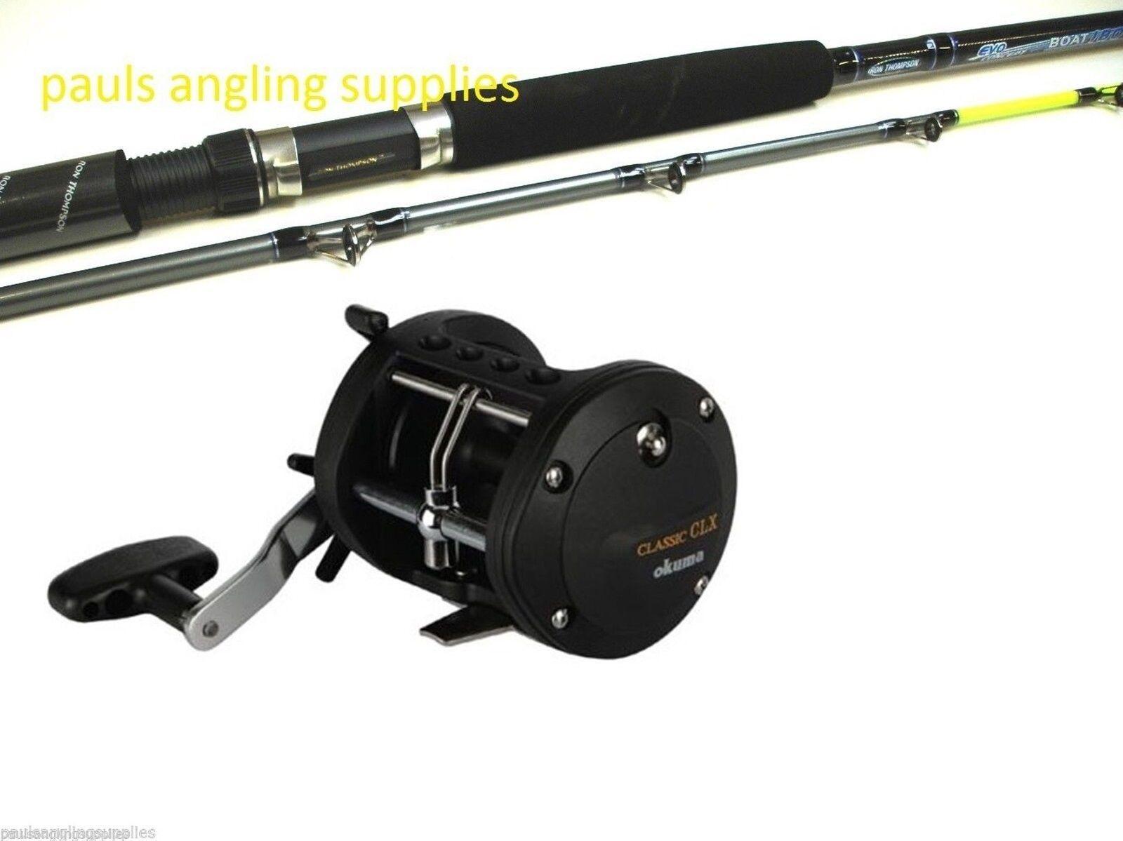 Evo g Force Boat  Fishing Rod & Okuma XT   Multiplier Reel  20   30 lb 7ft