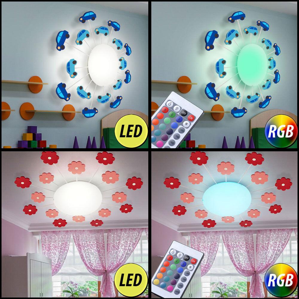 LED Auto Voiture Lampe Plafond Chambre Enfants RGB Variateur Télécommande Verre