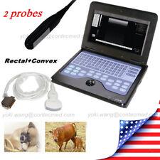 Veterinary Ultrasound Scanner Digital Laptop Convexrectal 2 Probesvet Us Fedex