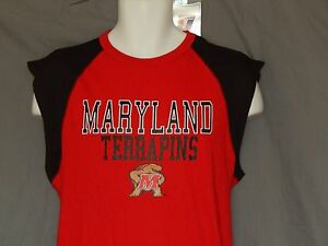 NEW-University-of-Maryland-Terrapins-Sleeveless-T-Shirt-Tank-Top-Men-039-s-M-Medium