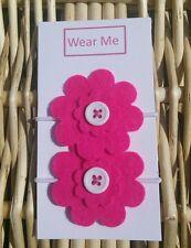 Fatto a mano rosa fiore di feltro Bobble x 2