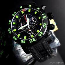 Invicta Sea Base Chronograph 53mm Swiss Made Black Green Titanium Watch New