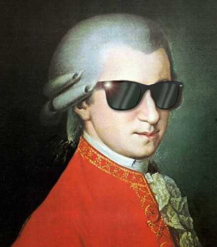 FUNNY WOLFGANG AMADEUS MOZART SUNGLASSES GLOSSY POSTER PICTURE PHOTO PRINT 4039