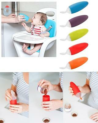 Bright Boon Squirt Baby Feeding Spoon Food Dispensing Child Weaning Table Feed Utensil To Win A High Admiration And Is Widely Trusted At Home And Abroad.