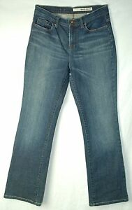 Faded-DARK-Blue-Whiskered-BOOT-CUT-Mid-Rise-DKNY-Soho-Jeans-6-R