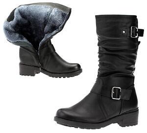 Warm Winter Stiefel Damenschuhe Wadenhoch Stiefel Boots Keilabsatz Schuhe Mode