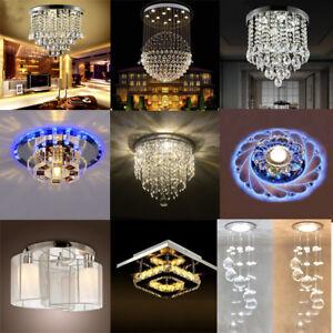 Image Is Loading Modern Crystal Pendant Light Ceiling Lamp Chandelier Living