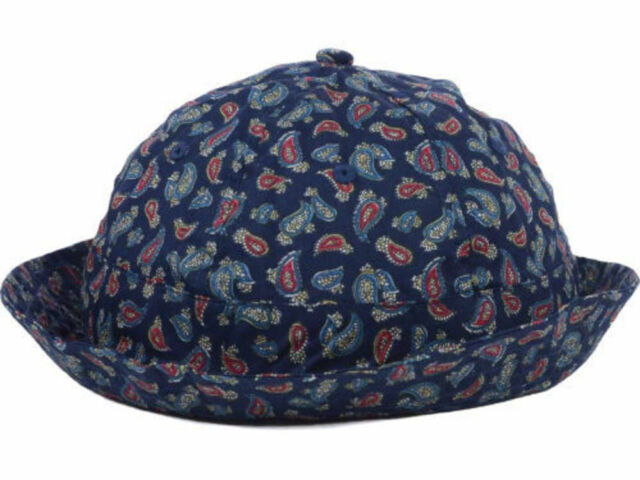 934142e310586 Crooks   Castle Navy Paisley Bucket Cap Sun Hat Size S m for sale ...