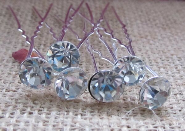 10 Diamante Strass Da Sposa/nozze/prom Mollette-/prom Hair Pins