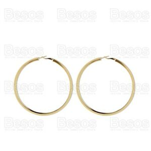 OVERSIZE-HOOP-EARRINGS-large-GOLD-FASHION-8cm-chunky-thick-metal-smooth-hoops