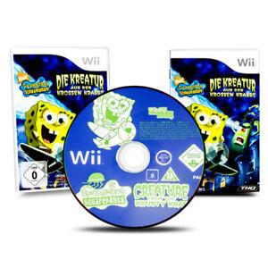 Wii-Jeu-Bob-L-039-Eponge-la-Creature-de-Crabe-Krosno-dans-Emballage-D-039-Origine