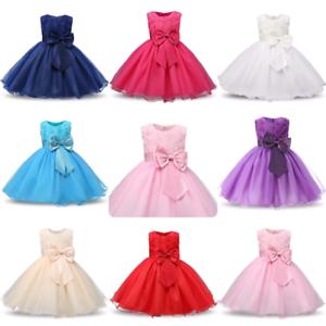 Vestido-de-dama-de-honor-bebe-Ninas-Flor-Ninos-Vestidos-para-Boda-Fiesta-Rosa-Mono-Princesa