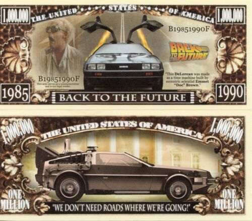 Movie Million Dollar Novelty Money Back to the Future Universal Pictures