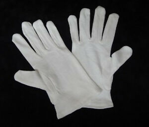 White Gilding Gloves 100% cotton (1 Pair)