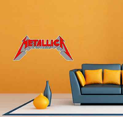 "Metallica Band Heavy Metal Music Room Wall Decor Sticker Decal 25""X11"""