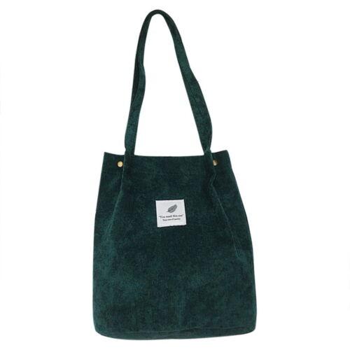 UK Casual Women/'s Canvas Corduroy Tote Bags Handbag Ladies Shoulder Bag SKM