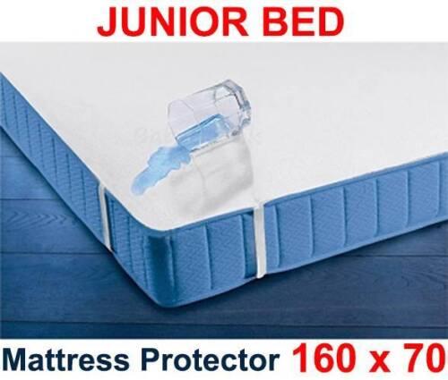 Junior Bett atmungsaktiv Terry Laken Wasserdichte Matratzenschoner 160 x 70cm